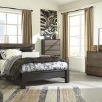 Ashley 4 Pc Bedroom - Includes: Queen Bed, Dresser, Mirror, Chest - Also Available In King - Reclaimed Wood <$999- Queen>  <$1149- King> Nightstand Available - $139-