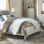 Ashley 4 Pc Bedroom - Includes: Queen Bed, Dresser, Mirror, Chest - Gold/Silver Rhinestones $999- (Also Available in Full $999-) Nightstand Available - $179-