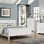 Bernards 4 Pc Bedroom - Includes: Full Bed, Dresser, Mirror, Nightstand - White $599- Chest Available - $229-