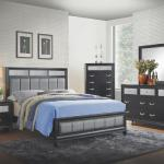 Coaster 4 Pc Bedroom - Includes: Queen Bed, Dresser, Mirror, Chest - Black/Bling <$1399- Queen>  <$1549- King> Nightstand Available - $169-