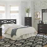Lang 4 Pc Bedroom - Includes: Queen/Full Headboard, Dresser, Mirror, Chest - Brown $599- Nightstand Available - $99-