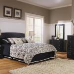 Lang 4 Pc Complete Bedroom - Includes: Twin Headboard, Dresser, Mirror, Nightstand - Black <$479- Twin>  <$499- Full> Chest Available - $159-