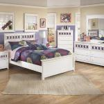 Ashley 4 Pc Bedroom - Includes: Twin Bed, Dresser, Mirror, Chest - Also Available in Full - White/Color Panels (Color Panels All Included - Next Image Shows Available Colors) <$899- Twin>  <$949- Full> Nightstand Available - $129-