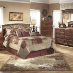 Ashley 4 Pc Bedroom - Includes: Full/Queen Headboard, Dresser, Mirror, Chest - Cherry $799- Nightstand Available - $159-