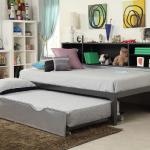 Acme Bookshelf Trundle Bed Twin - Gray Metal $449-