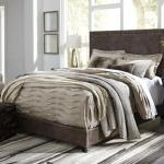 Ashley Bed Frame - Brown <$249- Queen> <$299- King>