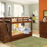 Woodcrest Stairway Twin/Twin Bunkbed - Wood/Dark Brown Drawers Underneath Not Included $499-