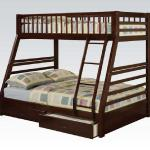 Acme Twin/Full Bunkbed - Wood/Brown Drawers Included $499-