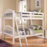 CTC Twin/Twin Bunkbed - Wood/White Can Be Separated Into 2 Beds $329-