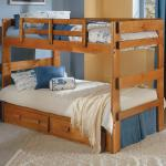 Woodcrest Twin/Twin Bunkbed - Wood/Light Brown Drawers Not Included - Can Be Separated Into 2 Beds $249-