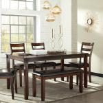 Ashley 6 Pc Dinette - Brown Wood $549-
