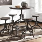 Ashley 5 Pc Pub Set - Brown Wood Adjustable Height $429-