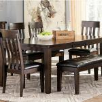 Ashley 6 Pc Dinette - Brown Wood $999-