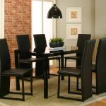 Cramco 5 Pc Dinette - Black Glass $399- <2 Extra Chairs $109->