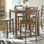 Ashley 5 Pc Pub Set - Medium Brown $449-