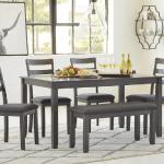 Ashley 6 Pc Dinette - Gray $549-