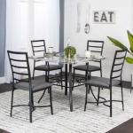 Cramco 5 Pc Dining Set - Gray Marble $399-