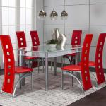 Cramco 7 Pc Dining Set - Red $649-
