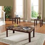 Acme 3 Pc Table Set - Brown Marble $179-