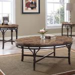 Bernards 3 Pc Table Set - Brown Marble $399-