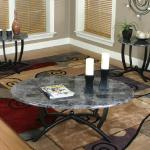 Cramco 3 Pc Table Set - Black Marble $229-