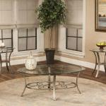 Cramco 3 Pc Table Set - Glass/Antique Bronze $299-