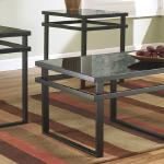 Ashley 3 Pc Table Set - Black/Glass $199-
