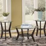 Ashley 3 Pc Table Set - Brown/Glass $249-