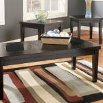 Ashley 3 Pc Table Set - Dark Brown/Black Glass $279-