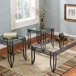 Ashley 3 Pc Table Set - Glass Top $149-