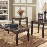 Ashley 3 Pc Table Set - Brown Marble $349-