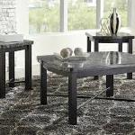 Ashley 3 Pc Table Set - Black Marble $279-