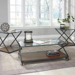 Ashley 3 Pc Table Set - Glass/Wood $299-