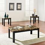 Acme 3 Pc Table Set - Brown Marble $169-