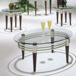 Acme 3 Pc Table Set - Glass/Brown Legs $349-