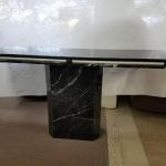 Genuine Marble Sofa Table - Very Heavy - Black Marble Regularly $899- Now Only $699-